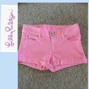 Lilly Pulitzer Clifton shorts size 0 pink jean